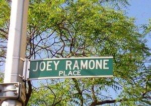 Joey Ramone - Most Stolen Street Sign