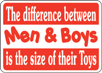 The difference between Men & Boys is the size of their Toys