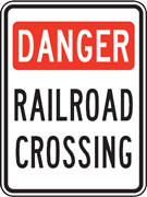 Danger Railroad Crossing