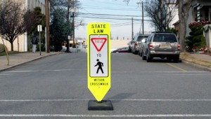 In-Street Crosswalk Sign