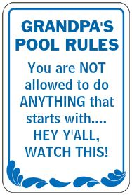 Funny Parking Signs >> Fun Swimming Signs – Funny Sign Friday - Safety Sign News