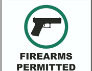 firearms permitted sign