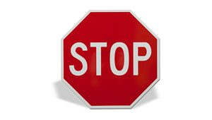 Red and white MUTCD stop sign