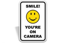 Smile you're on camera | security camera sign