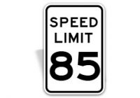 Custom Speed Limit Sign by SafetySign.com