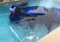 Honda Civic Submerged in a Pool