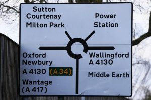 Sign-shifter makes signs point to Middle Earth