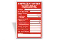 Hydraulic System Location Sign