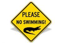 Please No Swimming Sign