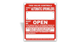 Supply to Automatic Sprinkler Sign