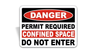 Permit Required Confined Space Sign