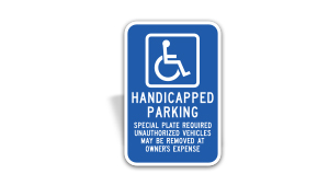 Massachusetts Accessible Parking Sign