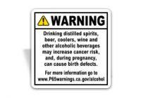 Prop 65 Alcoholic Beverage Sign