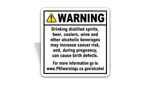 Prop 65 Alcoholic Beverage Sign
