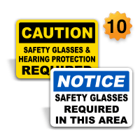 Eye and Face Protection Signs