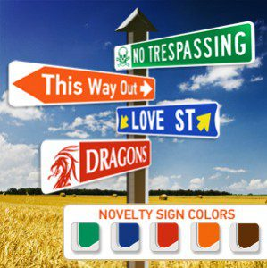 Novelty Street Signs | Personalized Holiday Gifts