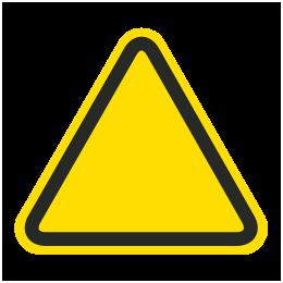 Custom ISO Hazard Symbol Label C1808 - by SafetySign.com