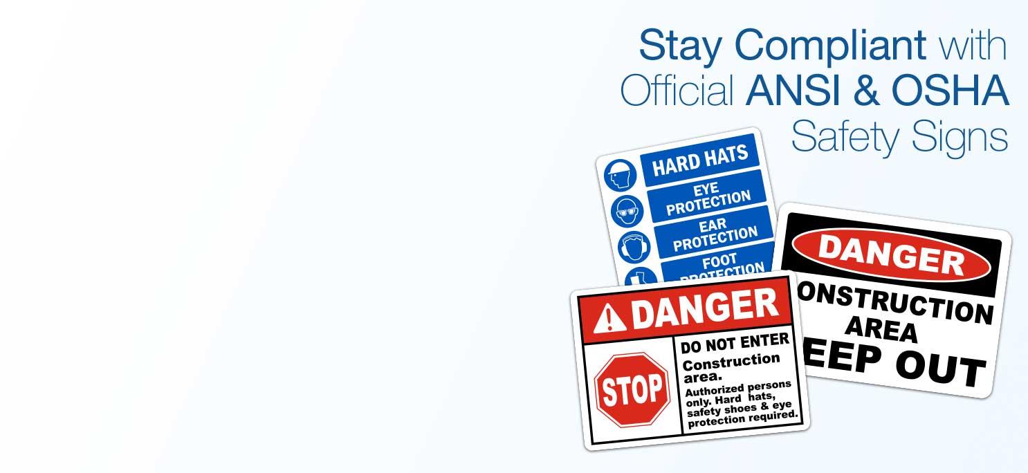 Safety Signs: OSHA & ANSI Compliant - SafetySign com
