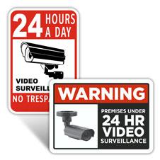 24 Hour Surveillance Signs