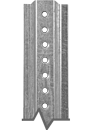 1.12 lb./ft. Galvanized U-Channel Post