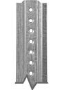 1.12 lb./ft. Galvanized U-Channel Post