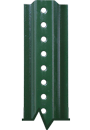 Green Enamel and Galvanized U-Channel Posts