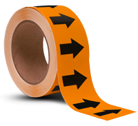 Orange/Black Arrow Banding Tape