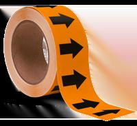 Orange/Black Arrow Banding Tape