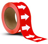 Red/White Arrow Banding Tape