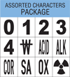 NFPA 704 Characters Package