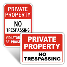 Private Property No Trespassing Sign