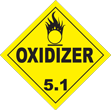 Oxidizer Class 5.1 Placard