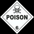 Poison Class 6 Placard