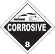 Corrosive Class 8 Placard