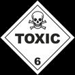 Toxic Class 6 Placard
