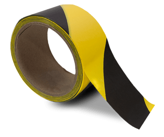 Yellow / Black Striped Floor Tape