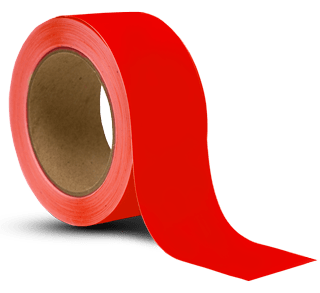 Red Vinyl Floor Marking Tape