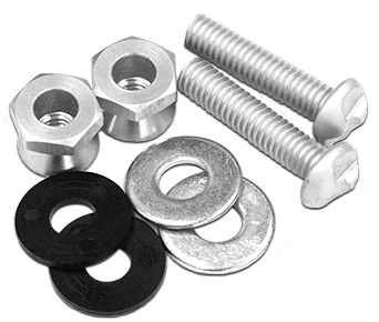"Tamperproof Set (2-bolts, 2-nuts, 4-washers) for signs with 3/8"" Mounting Holes"