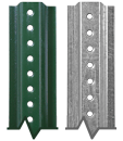 U-Channel Post - Green Enamel and Galvanized