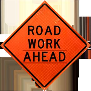 Road Work Ahead Sign