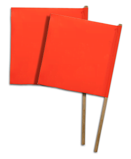 Wood Handle Traffic Flags