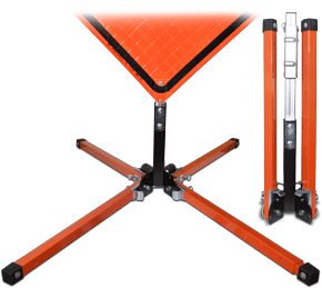 Springless Stand for Roll-Up Signs