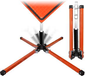 Single Spring Stand for Roll-Up Signs