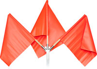 Orange Vinyl Flag with Wood Handle