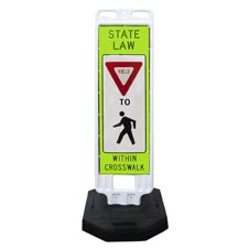 In-Street Pedestrian Crossing Sign with 28lb. Rubber Base