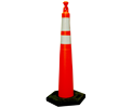 42″ Cone with Reflective Bands and 16lb. Base