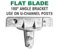 U-Channel Post Flat Blade Street Name Sign Bracket