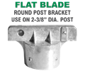 Round Post Flat Blade Street Name Sign Bracket