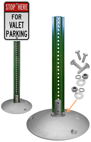 10 lb. Portable Sign Stand with 8 lb. 4' U-Channel Post