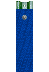 Blue Reflective U-Channel Post Panel